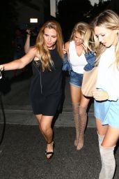 Hailey Baldwin and Charlotte McKinney Night Out - Los Angeles 7/27/2016