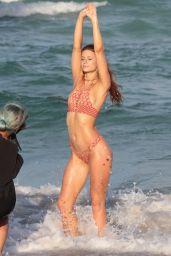 Hannah Stocking Bikini Photoshoot on Miami Beach 7/17/2016