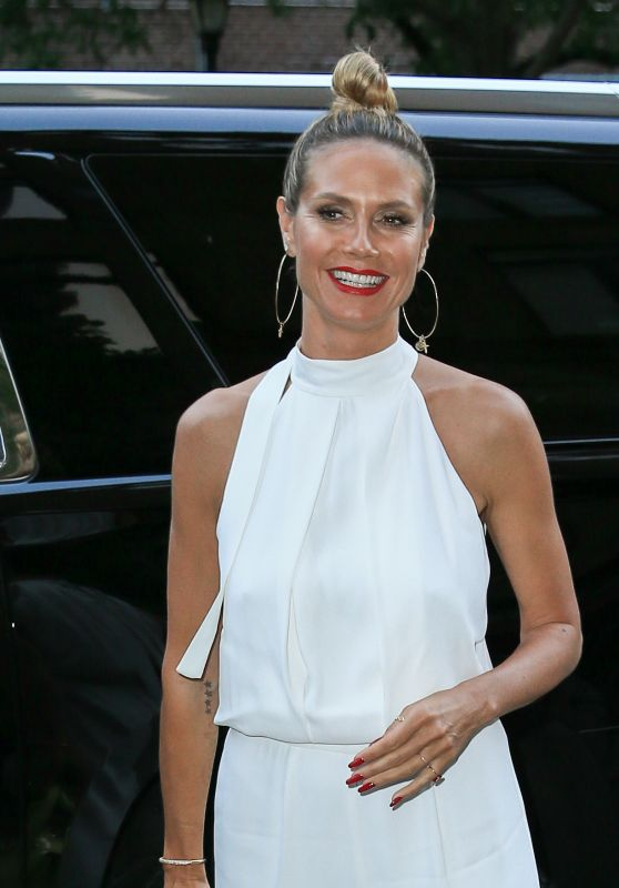 Heidi Klum All in White - New York City 7/12/2016