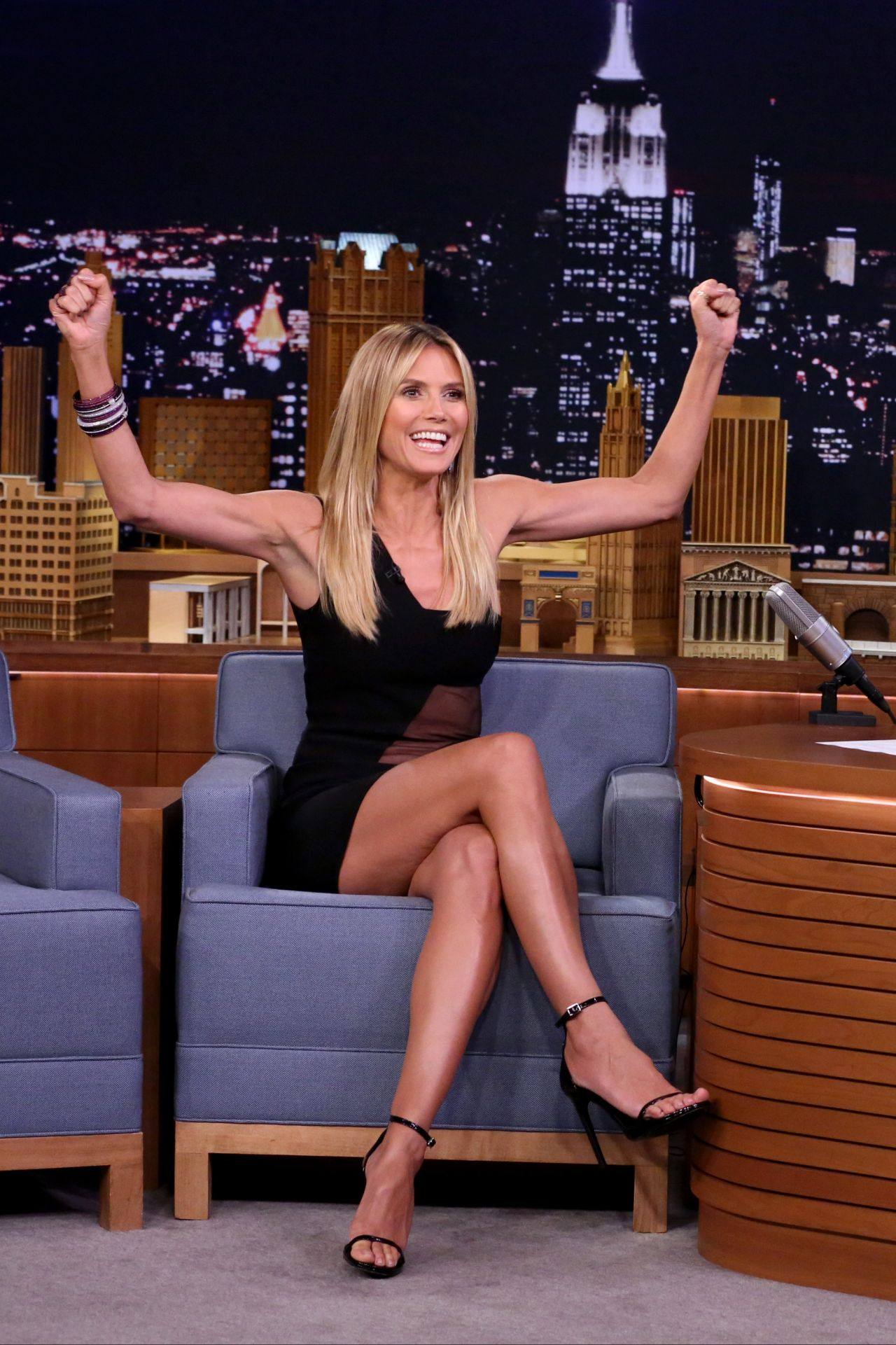 Heidi Klum Appeared On The Tonight Show With Jimmy Fallon
