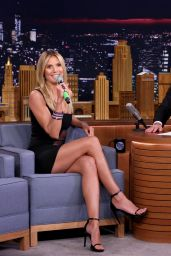 Heidi Klum Appeared on The Tonight Show With Jimmy Fallon in New York 7/19/2016