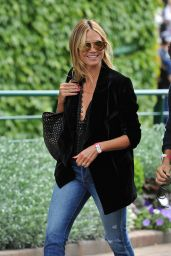 Heidi Klum - Arriving for the Championship at Wimbledon 7/8/2016