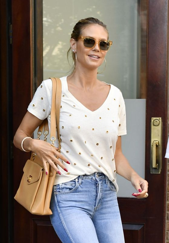 Heidi Klum Casual Style - Leaving the Greenwich Hotel in NYC 7/12/2016