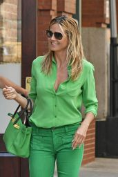 Heidi Klum Chic Outfit - Leaving Her Hotel in NYC 7/25/2016