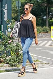 Heidi Klum in TIght Jeans - NYC 7/15/2016