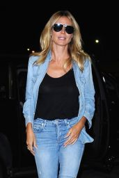 Heidi Klum Urban Style - Arrives at LAX in Los Angeles 7/27/2016