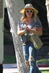 Hilary Duff at a Park in New York City 07/25/2016