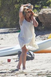Hilary Duff at the Beach in Malibu, July 2016