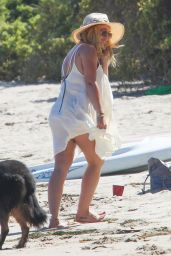 Hilary Duff at the Beach in Malibu, July 2016