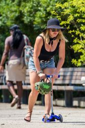Hilary Duff at the Brooklyn Bridge Park, NYC July 2016
