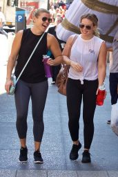 Hilary Duff in Spandex - Going to a Gym in NYC 7/19/2016