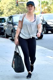 Hilary Duff in Spendex - Beverly Hills 7/29/2016