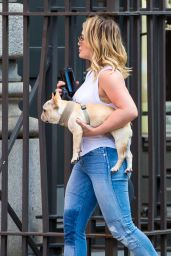 Hilary Duff Street Style - NYC 7/11/2016