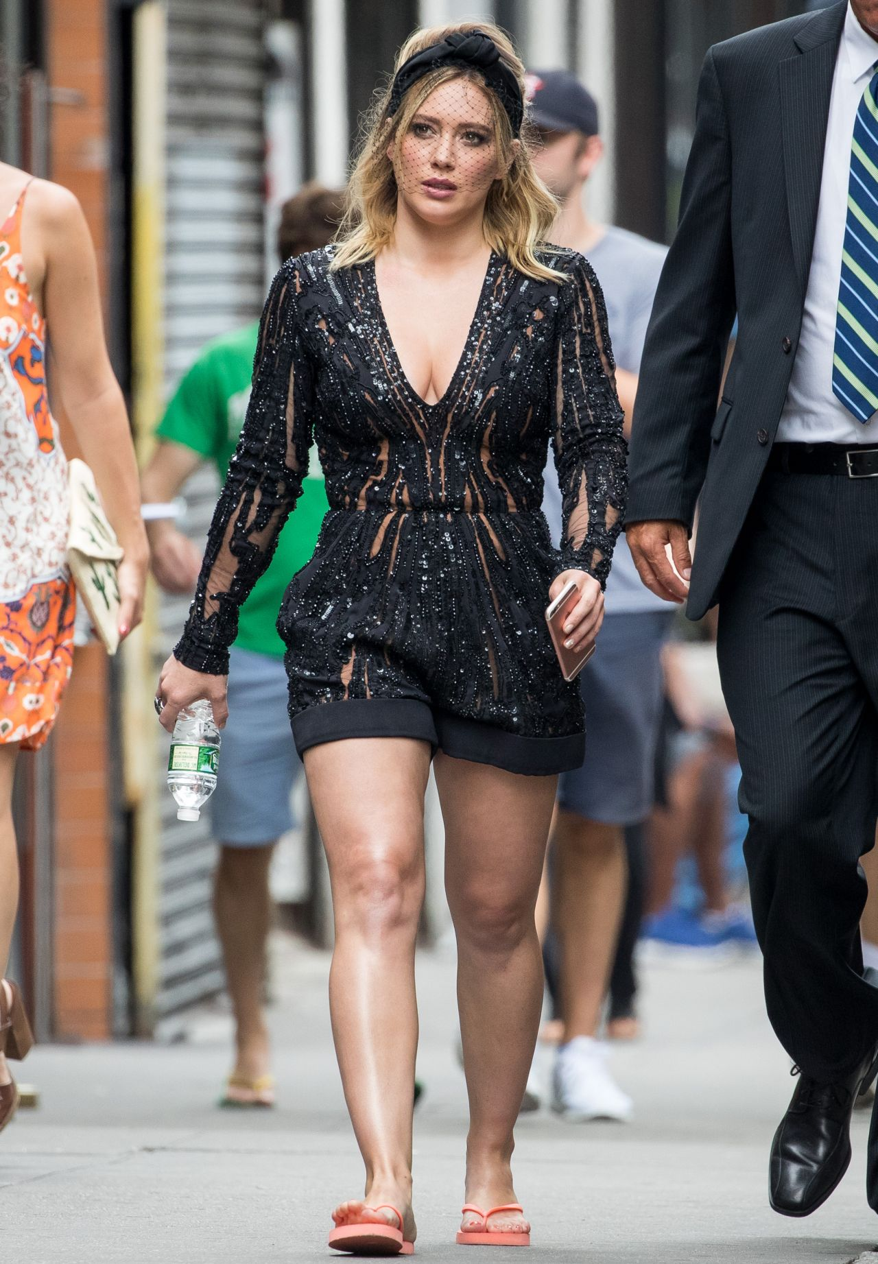 Hilary Duff - 'Younger' Set Photos - New York City, July 2016 хилари дафф