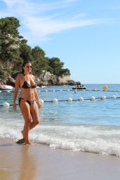 Imogen Thomas in Bikini - Beach Fun in Monaco, July 2016