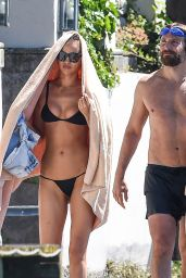 Irina Shayk Bikini Candids - Vacation at Garda Lake, Italy, July 2016