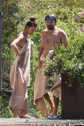 Irina Shayk Bikini Candids - Vacation at Garda Lake, Italy, July 2016