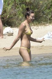 Irina Shayk in Bikini on the beach in Porto Cervo, July 2016