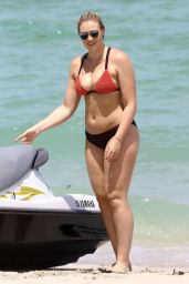 Iskra Lawrence Bikini Photoshoot - Beach in Miami, FL July 2016