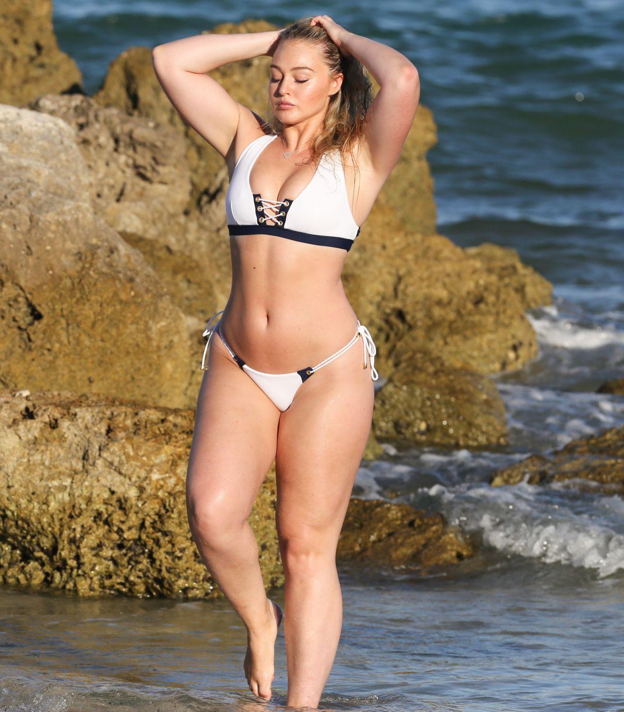 Iskra Lawrence Bikini Photoshoot Beach In Miami Fl July