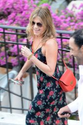 Jennifer Aniston - On Holiday in Positano, Italy 7/20/2016