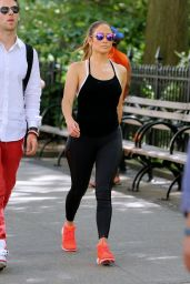Jennifer Lopez in Spandex - Walks to the Gym in New York City 6/30/2016