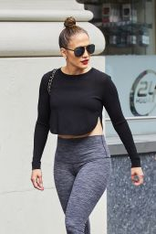 Jennifer Lopez in Tights - New York City, 07/10/2016