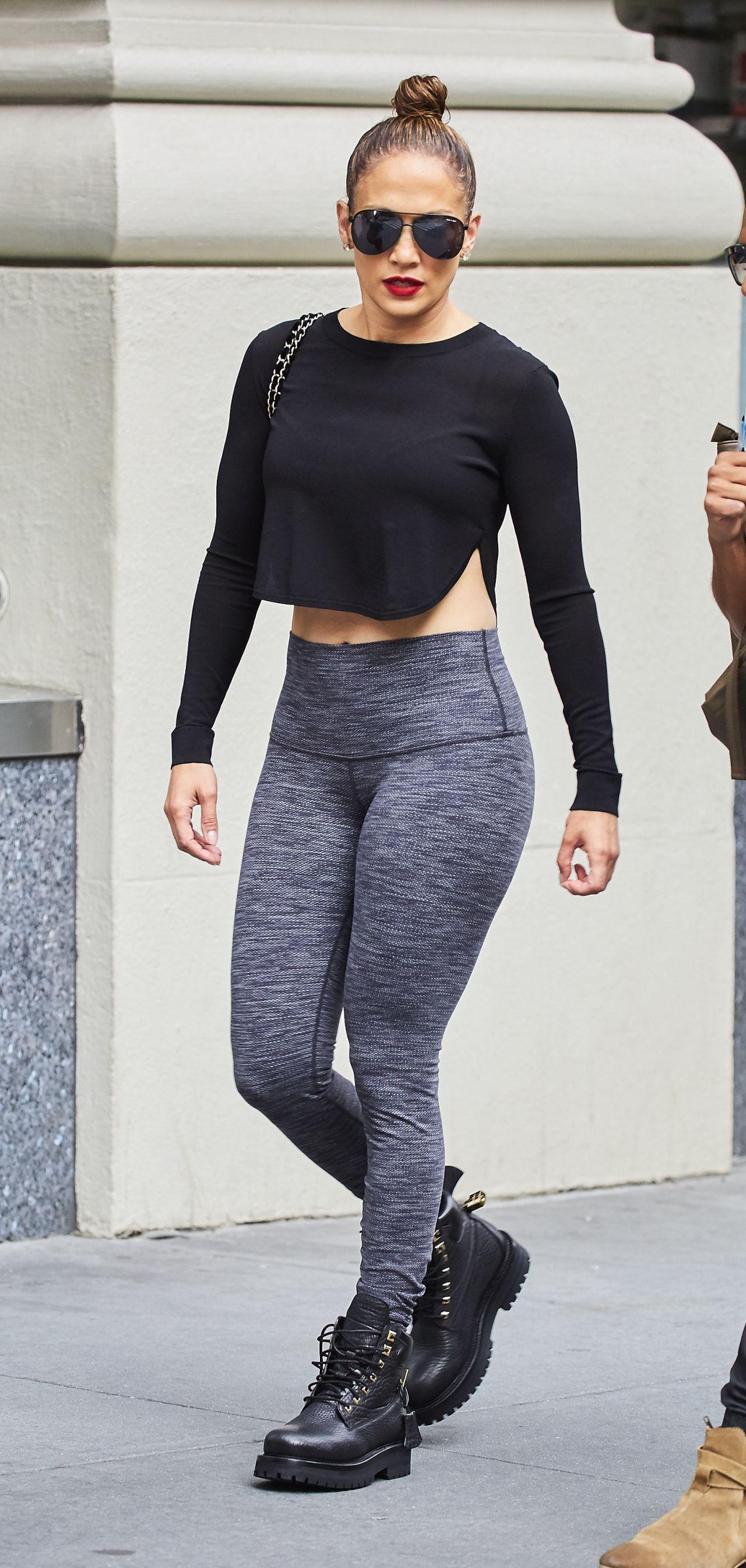 Jennifer Lopez In Tights New York City 07 10 2016