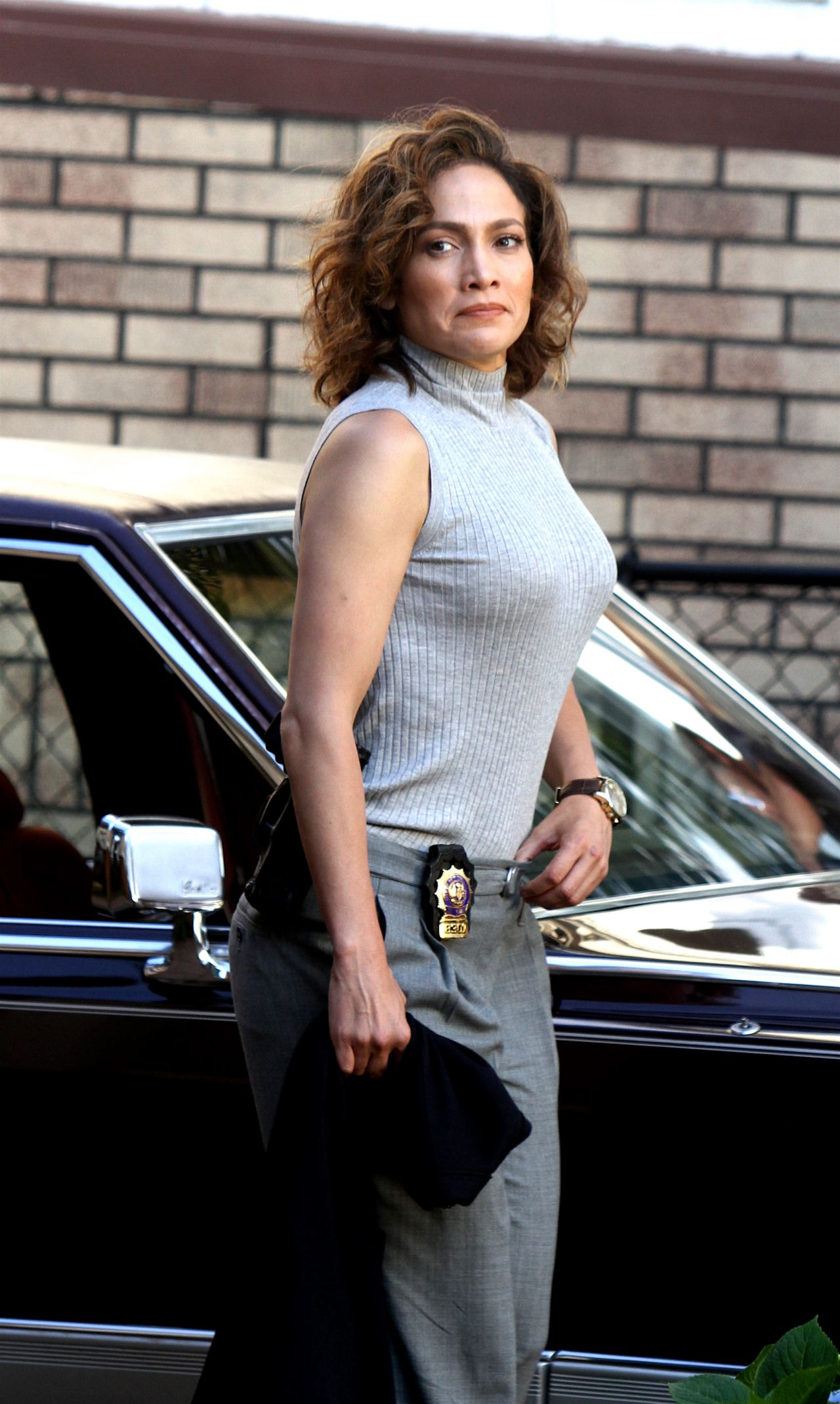 Jennifer Lopez On The Set Of Shades Of Blue In New