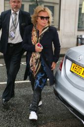 Jennifer Saunders & Joanne Lumley  Arriving at BBC Radio Two in London 1/7/2016