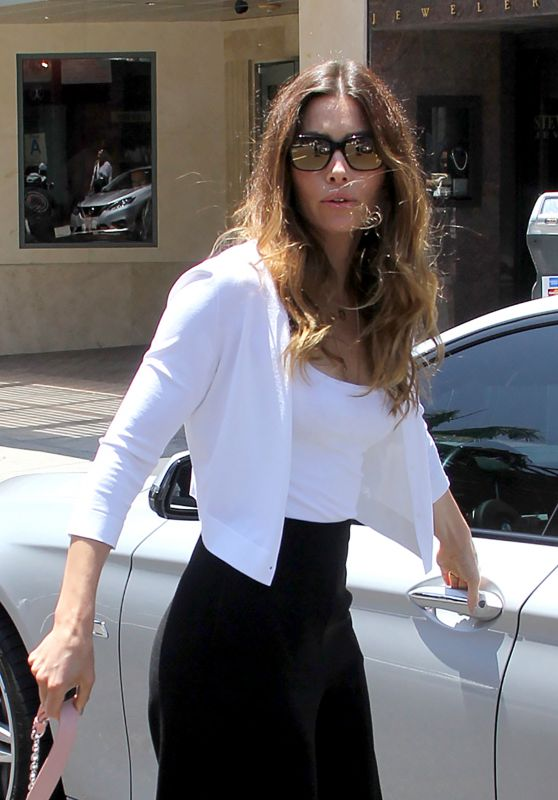 Jessica Biel - Leaving a Medical Building in Beverly Hills 7/8/2016
