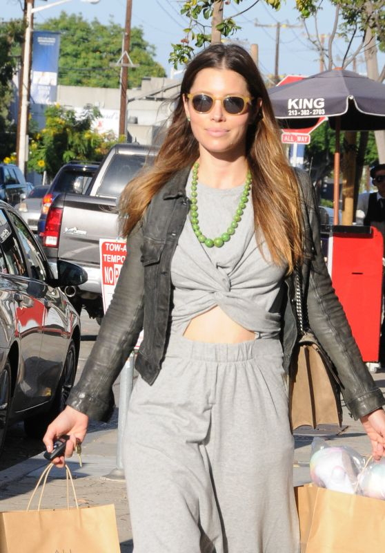 Jessica Biel - Leaving Au Fudge in Beverly Hills, July 2016