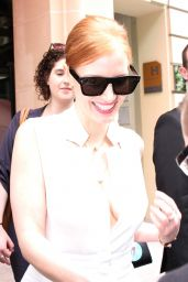 Jessica Chastain - Leaving Her Hotel in Paris 7/6/2016
