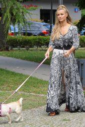 Joanna Krupa - Walking Her Dog in Warsaw, Poland, July 2016