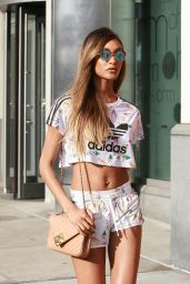 Jourdan Dunn Shows Off Her Legs in a Pair of Shorts - New York City, 07/18/2016