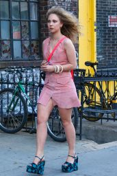 Juno Temple Casual Chic Outfit - Out in NYC, June 2016