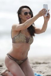 Karina Smirnoff in Bikini - Beach in Santa Monica 7/19/2016