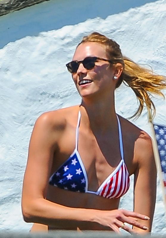 Karlie Kloss in Bikini at Taylor Swift's 4th of July Party 7/4/2016