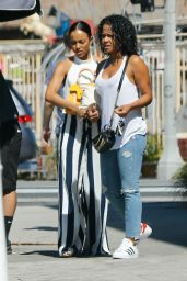 Karrueche Tran and Christina Milian - Out in Los Angeles 7/20/2016
