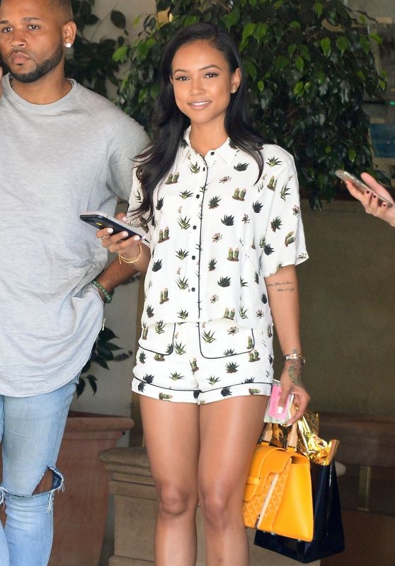 Karrueche Tran - Leaving the Sunset Tower Hotel in LA 7/8/2016