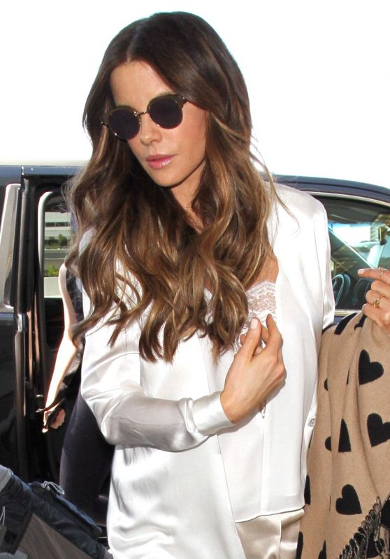 Kate Beckinsale Style - LAX Airport, July 2016