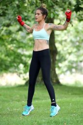 Katie Waissel - Working Out in London Park, July 2016