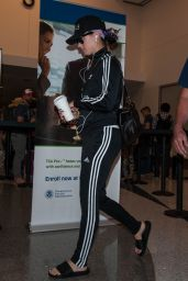 Katy Perry Travel Outfit - LAX Airport in Los Angeles, July 2016