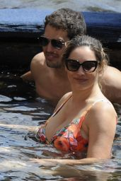 Kelly Brook in a Swimsuit - Boat Trip in Ischia 7/16/2016