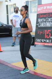 Kelly Rowland in Tights - Bristol Farms in Los Angeles 7/20/2016