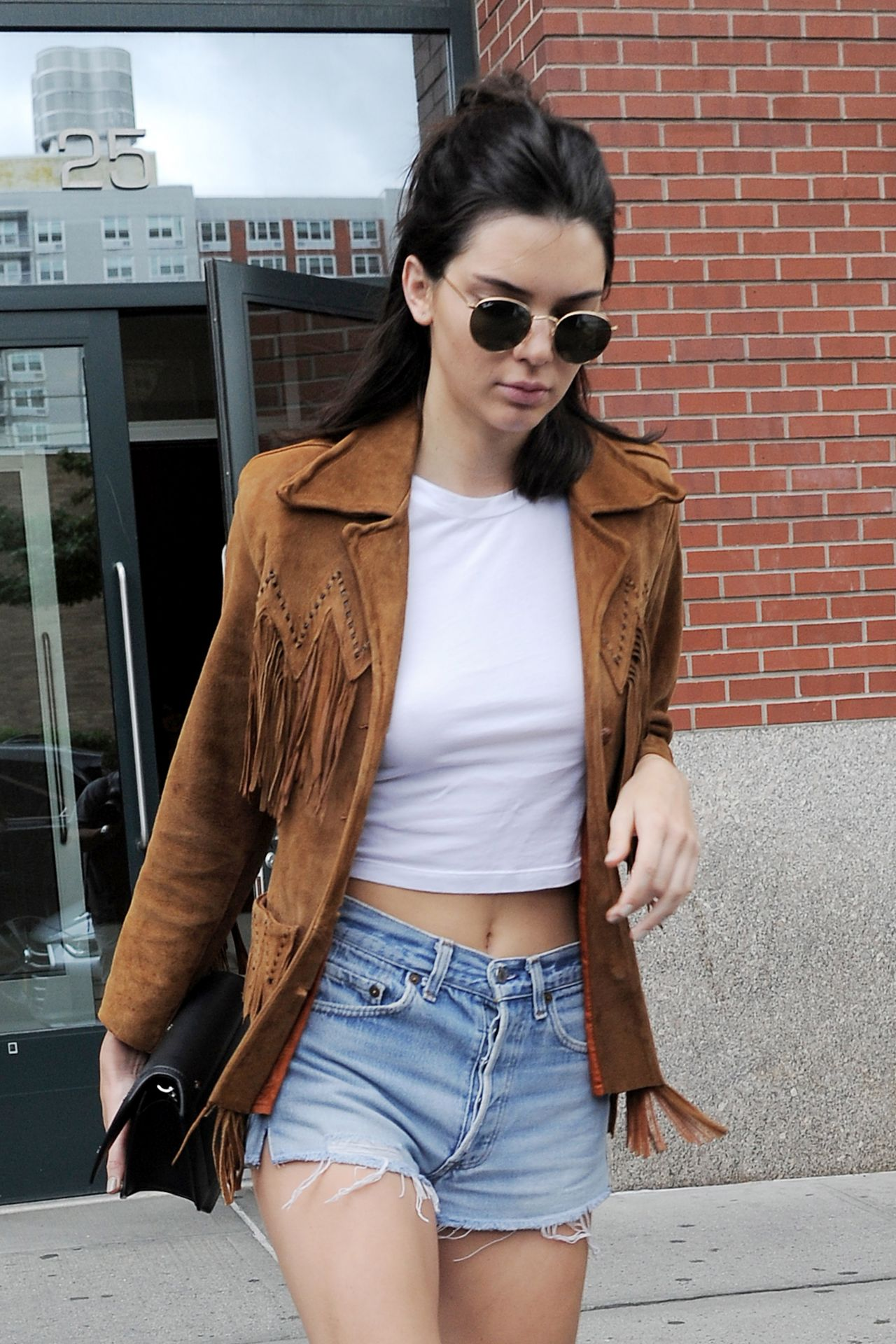 Kendall Jenner In Jeans Shorts New York City 07 10 2016