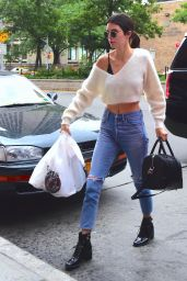 Kendall Jenner in Ripped Jeans - New York, July 2016