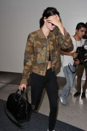Kendall Jenner Travel Outfit - LAX Airport, 7/19/2016