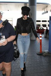 Kendall Jenner Urban Style - at LAX 7/5/2016