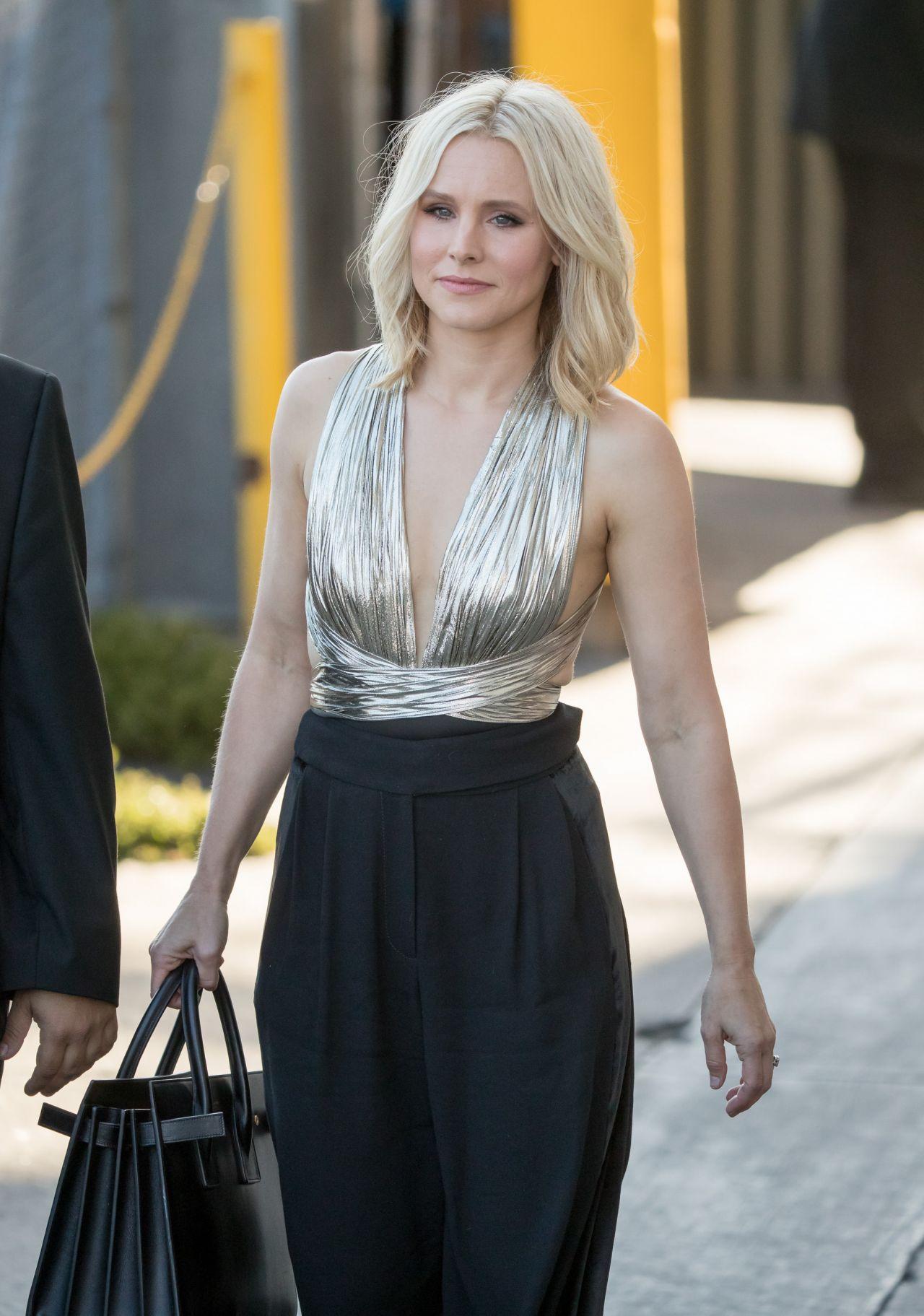 Kristen Bell Arriving To Appear On Jimmy Kimmel Live In